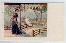 Fantaisie Le Japon Carte 1902 14x8 - Fantaisies