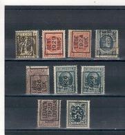 1924 - 25-26-29-   Préoblitérés  DIVERS - Roller Precancels 1920-29