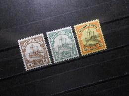 D.R.7/8/11**MNH - Deutsche Kolonien (Karolinen) 1900/1910 - Mi 10,00 € - Colony: Caroline Islands