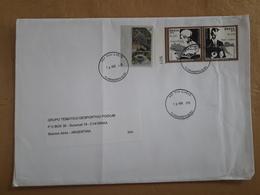 Enveloppe Du Brésil Diffusée Avec Des Timbres De Relation Avec La Croatie Et L'aigle - Lettres & Documents