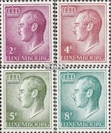 Luxemburg Mi.-Nr.: 727ya,829ya-831ya (kompl.Ausg.) Postfrisch 1966 Jean - Unused Stamps
