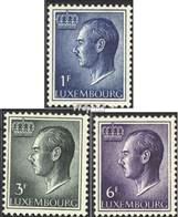 Luxemburg Mi.-Nr.: 711ya-713ya (kompl.Ausg.) Postfrisch 1965 Jean - Unused Stamps