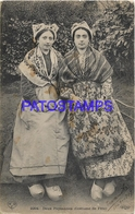 130036 FRANCE COSTUMES WOMAN TWO FARMERS CIRCULATED TO SPAIN POSTAL POSTCARD - France