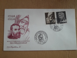 Italie Fdc 400 Ans De La Mort De Michel-Ange - Sculpture