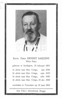 Eerw. Pater Ernest Saelens - Witte Pater - Snellegem - Jabbeke