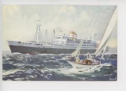 Louis Lumière, Albert Brenet Peintre Marine Inauguration Paquebot 8/10/1952 Compagnie Chargeurs Réunis - Paquebots