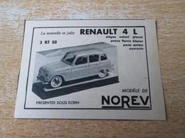 SPI2020 : NOREV VOITURES  MINIATURES : RENAULT 4L  -  Pour  Collectionneurs ... PUBLICITE - Norev
