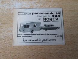 SPI2020 : NOREV VOITURES  MINIATURES : CARAVANE ET 404 PANORAMIC  -  Pour  Collectionneurs ... PUBLICITE - Norev