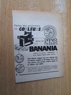 SPI2020 Issu De Spirou 60/70 : PUBLICITE BANANIA PROJECTEUR DE CINEMA Cadeau Publicitaire - Bâteaux