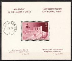 BL8**  Monument Albert Ier - MNH** - COB 65 - Vendu à 13% Du COB!!!! - Bloques 1924 – 1960