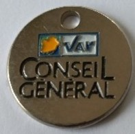 Jeton De Caddie - VAR - Conseil Général - En Métal - Neuf - - Jetons De Caddies
