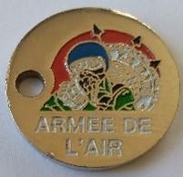 Jeton De Caddie - ARMEE DE L'AIR - AIR INFORMATION - LE MANS (72) - En Métal - - Munten Van Winkelkarretjes