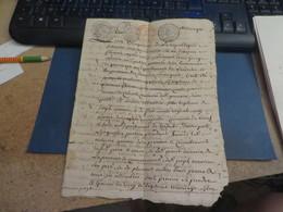 TRES TRES VIEUX PAPIERS POUR CERTAINS,vendu Comme C'est - Documents Historiques