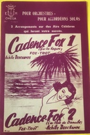 (141) Partituur - Partition - Cadence Fox1 - Sur Les Vagues - Cadence Fox2 - Partitions Musicales Anciennes