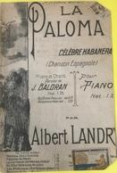 (143) Partituur - Partition - La Paloma - La Colombe - Partitions Musicales Anciennes