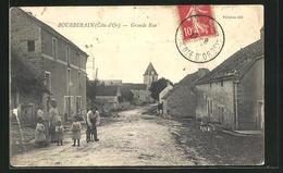 CPA Bourberain, Grande Rue, Blick In Die Strasse - Francia