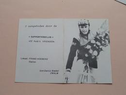 "Supportersclub "" De RUDY's Vrienden "" Lokaal Frans Hoebeke Station ( ZWALM / Zie Foto's ) Zakkalender 1980 ! - Cyclisme"
