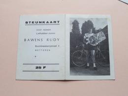 Steunkaart Voor Renner Liefhebber-Junior BAWENS RUDY Boomkwekerijstraat WETTEREN ( Zie Foto's ) Zakkalender 1970 ! - Cyclisme