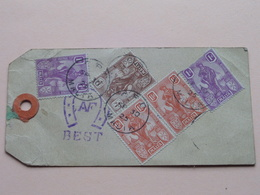 Luggage / Bagage LABEL With STAMPS From MALTA ( See Photo Voir ) NICE ITEM Anno 1925 >> ANTWERP ! - Malte