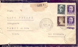 BOLZANO RACCOMANDATA  P. GRANO 1938 COVER    (FEB201357) - 1900-44 Vittorio Emanuele III