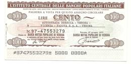 1977 - Italia - Istituto Centrale Delle Banche Popolari Italiane - Autostrada Brescia-Verona-Vicenza-Padova Spa - [10] Assegni E Miniassegni