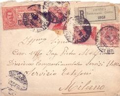 GENOVA RACCOMANDATA VSERVIZI ELETTRICI ESPRESSO  1922 COVER    (FEB201361) - 1900-44 Vittorio Emanuele III