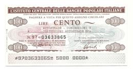 1976 - Italia - Istituto Centrale Delle Banche Popolari Italiane - Autostrade - Concessioni E Costruzioni Autostrade Spa - [10] Assegni E Miniassegni