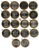 Russie - 10 Roubles - Region Of Russia (2011-2020 - 17 Coins UNC) - Rusland