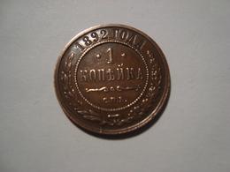 MONNAIE RUSSIE 1 KOPECK 1892 - Rusland