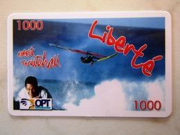 NOUVELLE CALEDONIE   OPT        LIBERTE 1000   RARE RECTANGLE AROUND - Nouvelle-Calédonie