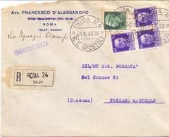 RACCOMANDATA ROMA APOSTOLI 1936  (FEB201369) - 1900-44 Vittorio Emanuele III