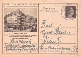 ALTE  Postkarte- 6 Pfennig- DR  ZWICKAU / Sachsen   - Ringhaus -  Gelaufen 1944 Mit Poststempel Von KARLSBAD - Zwickau