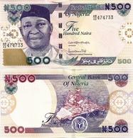 NIGERIA       500 Naira       P-30[r]       2019        UNC - Nigeria
