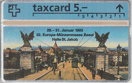 SUISSE - PHONE CARD - TAXCARD-PRIVÉE * RARE *** TRAIN - ZUG & TRAM / 5 *** - Suiza