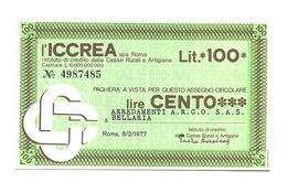 1977 - Italia - ICCREA - Arredamenti A.R.C.O. S.A.S. Bellaria - [10] Assegni E Miniassegni