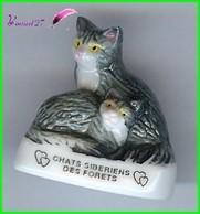 """Feve Les Races De Chat Cat Edition Atlas """" Les Sibériens Des Foret #A18 - Animali"""