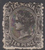 Australia-Tasmania SG 134 1870 Ten Pence Black,used,perf 11.5 - Gebruikt