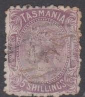 Australia-Tasmania SG 149 1875 Five Shillings Purple,used,perf 11.5 - Gebruikt