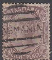 Australia-Tasmania SG 158 1878 8d Purple Brown,used,perf 14 - Gebruikt