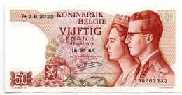 Belgique -  50 Francs   16/05/1966  -  état  SUP+ - [ 2] 1831-... : Reino De Bélgica
