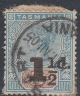 Australia-Tasmania SG 244 1904 1.5d On 5d Blue And Brown,perf 14,used - 1853-1912 Tasmania