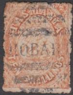 Australia-Tasmania SG F17 1863-80 Fiscals Ten Shillings Salmon,perf 12,used - Used Stamps