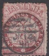 Australia-Tasmania SG F23 1863-80 Fiscals 2s 6d Lake,perf 11.5,used - Used Stamps