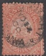 Australia-Tasmania SG F25 1863-80 Fiscals Ten Dollars Salmon,perf 11.5,used - 1853-1912 Tasmania