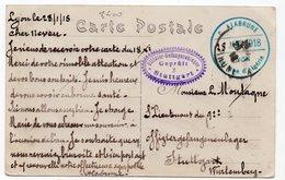 CARTE DE PRISONNIER GUERRE 1914 18   -  C ALABRUNE STUTTGART  VOIR CACHET - Guerre De 1914-18