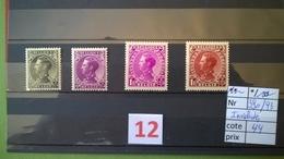Léopold III Au Profit Des Invalides (1934) COB 390/393 * Vendu à 15% - Other