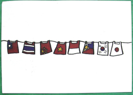Used Postcard POSTCROSSING From TAIWAN To RUSSIA - Taiwan