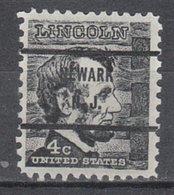 USA Precancel Vorausentwertung Preo, Bureau New Jersey, Newark 1282-71 - Vereinigte Staaten
