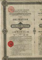 SERBIE-ROYAUME DE SERBIE.  1895 - Actions & Titres