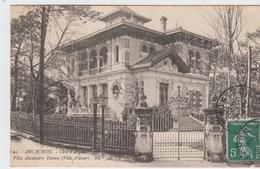 GIRONDE - 61 - ARCACHON - Côte D'Argent - Villa Alexandre Dumas  ( - Timbre à Date De 1912 ) - Arcachon